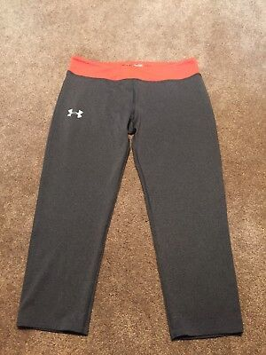 Girls Under Armour Gray Capris Cropped Leggings Size XL
