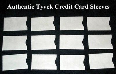 Lot of 10 Tyvek Credit Debit ATM ID Gift Card Holder Protector Sleeve Envelopes