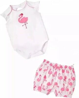 NWT Gymboree Tropical Oasis 3-6 Months Flamingo Bodysuit /& Flower Socks