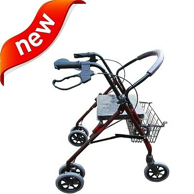 Drive Medical Folding+Padded Seat+basket 4-Wheel Rollite Rollator Rolling Walker