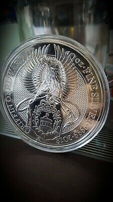 2018  Great Britain Queen's Beasts Griffin 10 oz Silver coin W/ mint capsule