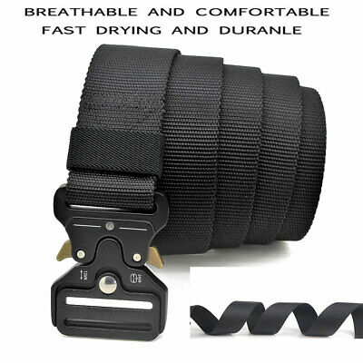 Adjustable Mens Military Tactical Gun Belt Quick Release Buckle Combat Waistband