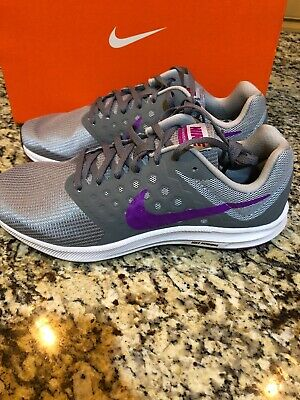 26b14fcfbf67 NEW Nike DOWNSHIFTER 7 Womens Cool Grey Hyper Violet 852466-011 Shoes SIZE  11