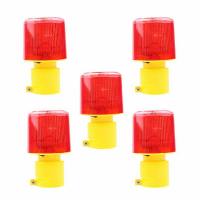 CN_ 5PCS Solar Power Warning simply constructed chink Road Signal Construction