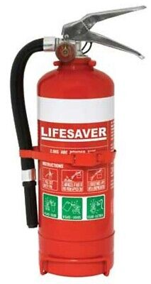 Lifesaver FIRE EXTINGUISHER 2.5Kg Suitable For Class A,B,E Fires, Dry Powder