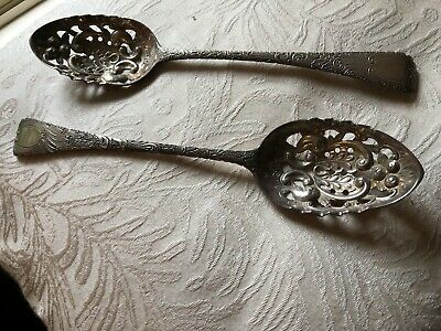 Sterling Silver  Sieve Spoons Barraclough & Sons Hallmarked