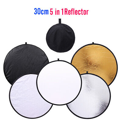 30cm 5 in 1 Portable Mini Collapsible Light Round Photography Photo Reflector