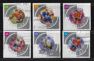 Canada Stamps — Set of 6 — 2003, NHL All-Stars - 4 #1972a@f — Lot 30391