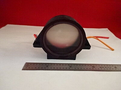 Microscope Part Nikon Japan Mounted Diffuser Lens Optics As Is #Y5-D-06