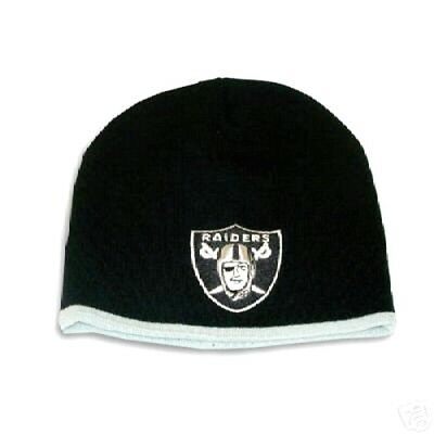 c24f6678af5df8 Oakland Raiders Knit Beanie Hat Ski Cap Toddlers Classic Cuffless Black New