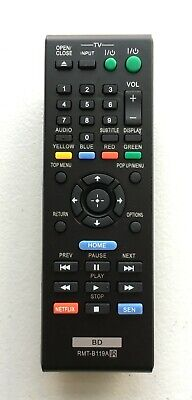 NEW USBRMT Remote RMT-B119A For Sony DVD Blu-Ray Player BDP-S590WM BDP-S5100 US*