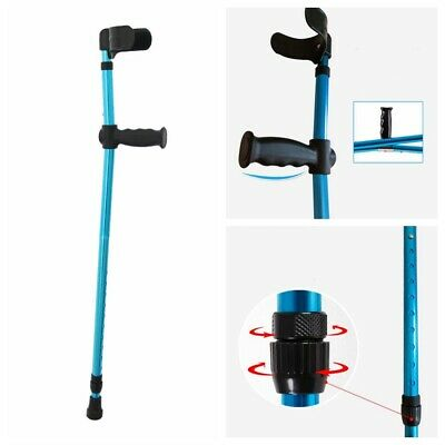 Height Adults Foldable Heavy Duty Walking Forearm Crutches Stick Aluminum Alloy
