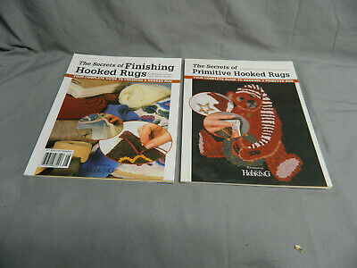 2 Books - Secrets of Primitive Hooked Rugs & Secrets of Finishing Hooked Rugs