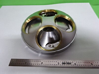Microscope Part Mitutoyo Japan Nosepiece Large Objective Optics As Is B#F5-C-09