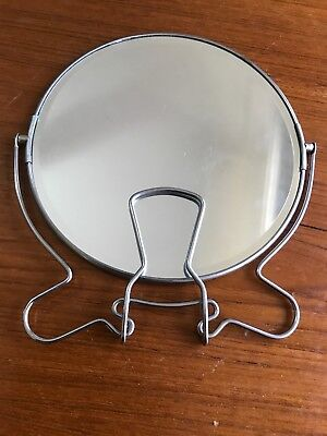 Vintage Portable Shaving Makeup Mirror Souvenir Beach Vanity Shave