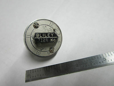 Vintage Wwii Bliley Quartz Crystal Variable Frequency Vf1 7124 Kc