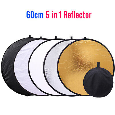 """24"""" 60cm 5 in 1 Portable Collapsible Photo Photography Light Round Reflector"""