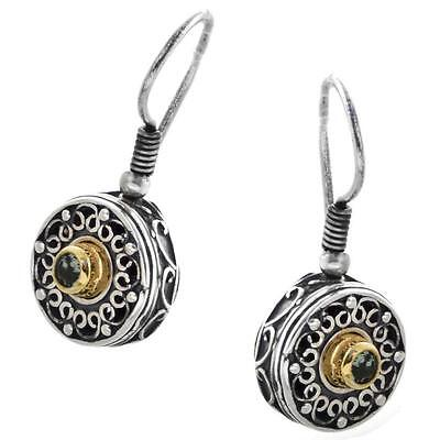 S188 ~ Sterling Silver & Swarovski Medieval Drop Earrings