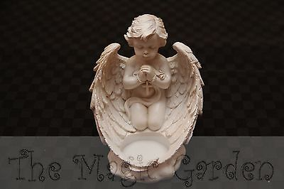 Cherub angel candle tea light holder cement plaster craft latex molds moulds
