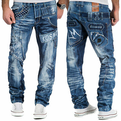 Mens New 100% Authentic Kosmo Lupo Jeans Size 34 36 38 Designer Quality Denim
