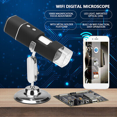 Microscopio Digitale Elettronico WiFi 2MP 1000X 8LED USB Per Telefono Cellulare