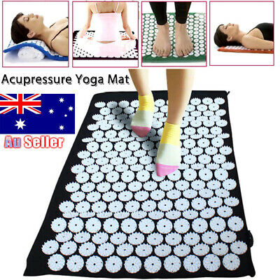 2019 Massage Acupressure Mat Yoga Shakti Sit Lying Mats Cut Pain Stress Soreness