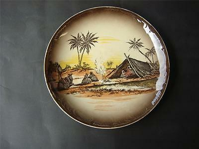 "ANTIQUE ROYAL STAFFORDSHIRE WALL  PLATE  '' HOMELAND  SERIES AFRICA ""1930's"
