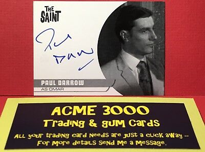 Unstoppable THE SAINT Autograph Card PD1 Omar PAUL DARROW