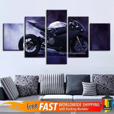 Canvas Motorcycle Painting Art 24x48