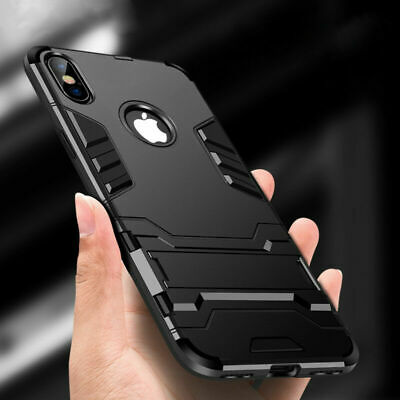 iPhone X 5 6S 8 7 Plus XS Max Case Hybrid Hard Heavy Duty Shockproof Stand Cover