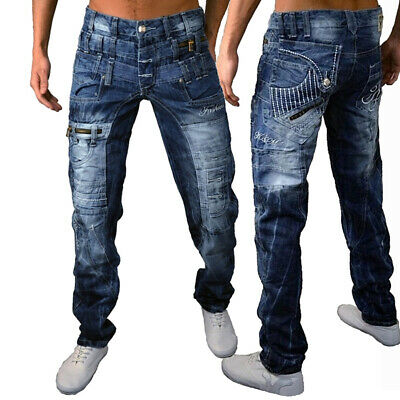 Mens New 100% Authentic Kosmo Lupo Jeans Size 32 - 38 Designer Quality Denim K&M