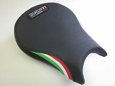D09L Ducati Streetfighter Seat cover upgrade Italian flag colours-FRONT