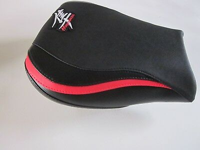 S84 Suzuki 1300R Hayabusa 1999-2007  seat cover-Carbon/Red/Carbon effect - FRONT