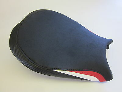 D14 Ducati 848 1098 1198 Seat cover Corse colours Red/White- FRONT