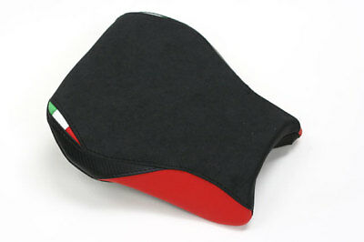 A01 Aprilia RSV1000R Mille seat cover Black/Red/ Italian Flag colours - FRONT