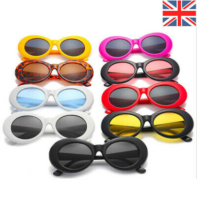 Retro Clout Oval PC Frame Sunglasses Cool Goggles Fashion Women Classic Eyewear