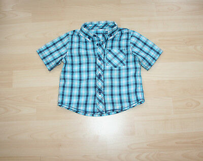 Mothercare Lovely Checked Short Sleeve Summer Shirt Sz 9-12 mns