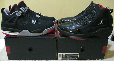 9ec28be5941 Nike Air Jordan Bred 4 19 IV XIX Black Red Collezione 2008 Countdown Pack  Men 10