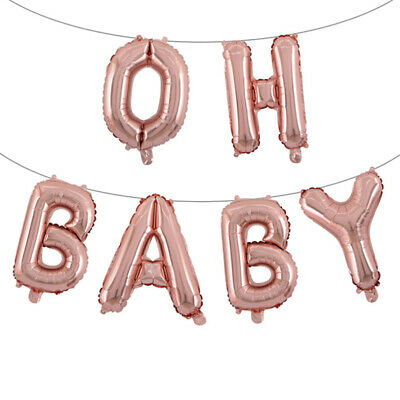 "Baby Shower Oh Baby It's a Boy/Girl 16"" Foil Letter Balloon Party Christening"