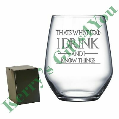 Engraved Tumbler - Game Of Thrones - I Drink And I Know Things Tyrion Quote