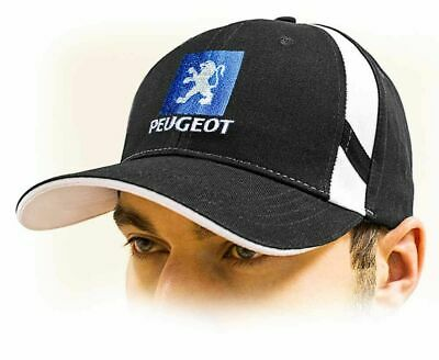 PEUGEOT baseball Cap Unisex hat, black. Adjustable size with embroidered logo!
