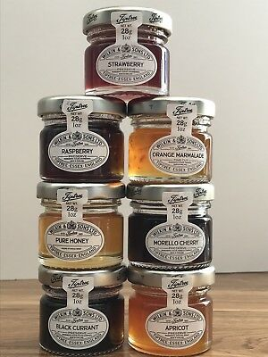 7 x 28g Wilkin & Sons Tiptree Mixed Mini Jams & Honey, Great Wedding Favours