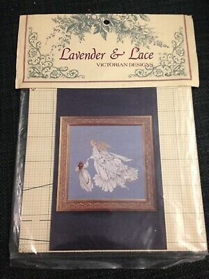 "Lavendar & Lace ""Angel Of Mercy"" cross stitch pattern"