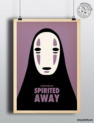 SPIRITED AWAY - Minimalist Studio Ghibli Movie Poster Minimal Posteritty Anime