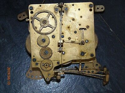 Antique, vintage mantel or wall clock movement, Westminster chimes.