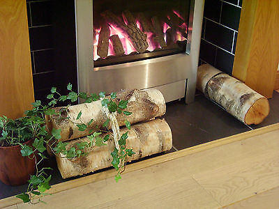 Decorative Display Logs Natural Silver Birch Bark wood logs for fireplace decor