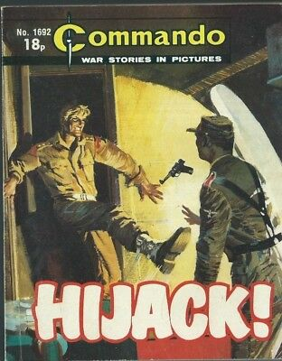 Hijack !,commando War Stories In Pictures,no.1692,war Comic,1983
