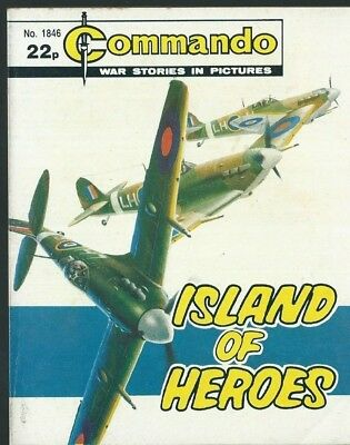 Island Of Heroes,commando War Stories In Pictures,no.1846,war Comic,1984