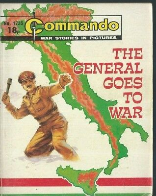 The General Goes To War,commando War Stories In Pictures,no.1735,war Comic,1983