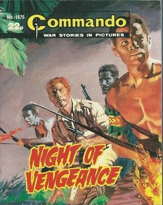 Night Of Vengeance,commando War Stories In Pictures,no.1875,war Comic,1985